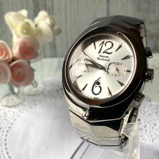 Vivienne Westwood - 【電池交換済み】 vivienne アーマークロノグラフ シルバー 腕時計