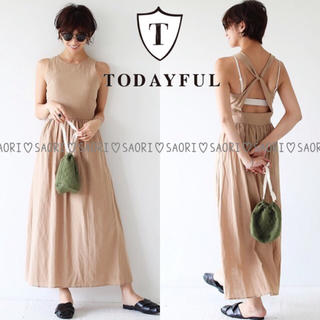 TODAYFUL - TODAYFUL【未使用に近い】Back Cross Dress★ungrid