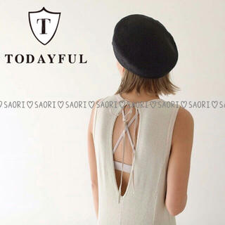 TODAYFUL - TODAYFUL【美品】Waffle Flare OP★ungrid