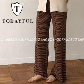 TODAYFUL - TODAYFUL【新品タグ付】Geometric Knit Pants