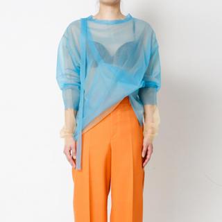 ルシェルブルー(LE CIEL BLEU)のIRENE Transparent Knit Tops(シャツ/ブラウス(長袖/七分))