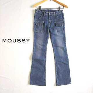 マウジー(moussy)のマウジー★ベイカーブーツカットジーンズ 26 ストレッチ素材 レトロ 90年代風(デニム/ジーンズ)