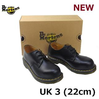 ドクターマーチン(Dr.Martens)のDr.Martens UK3 スチールトゥ 3ホール シューズ 黒 くろ(ローファー/革靴)