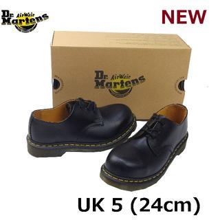 ドクターマーチン(Dr.Martens)のDr.Martens UK5 スチールトゥ 3ホール シューズ 黒 くろ(ローファー/革靴)