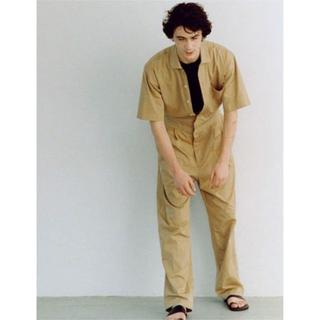 COMOLI - AURALEE WASHED CAVALRY TWILL JUMPSUIT