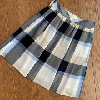 バーバリーブルーレーベル(BURBERRY BLUE LABEL)のブルーレーベル クレストブリッジ 38 チェック スカート(ひざ丈スカート)