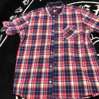 BURBERRY BLACK LABEL - バーバリーブラックレーベル  半袖  チェックシャツ