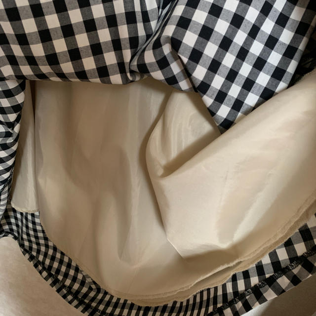GU(ジーユー)のフレアチェックスカート レディースのスカート(ロングスカート)の商品写真