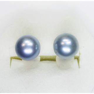 あこや黒本真珠7.5ミリ珠ピアス(ピアス)