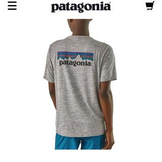 patagonia - メンズキャプリーンクールグラフィックTシャツ グレー 新品