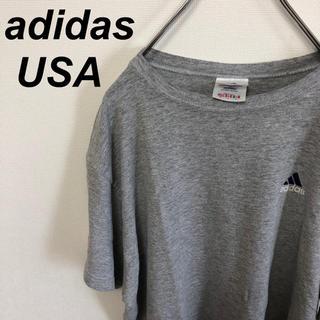 アディダス(adidas)の90s adidas アディダス USA製 Tシャツ グレー(Tシャツ/カットソー(半袖/袖なし))
