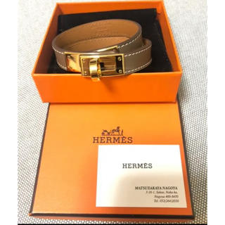 Hermes - HERMES ケリー ドゥブルトゥール レザーブレスレット