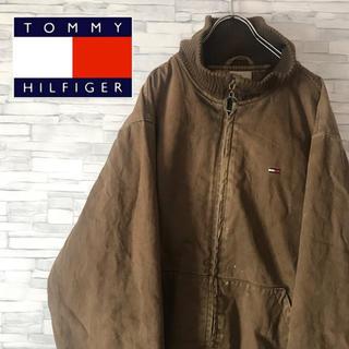 トミーヒルフィガー(TOMMY HILFIGER)のトミーヒルフィガーデニム 90s ダック地 ワークジャケット バックロゴ レトロ(ブルゾン)