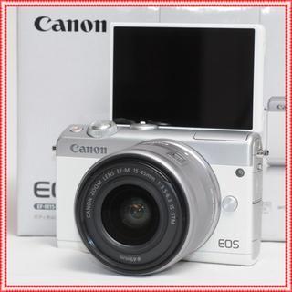 Canon - 最安値挑戦♪✨未使用✨Canon EOS M100set✨スマホ転送✨白