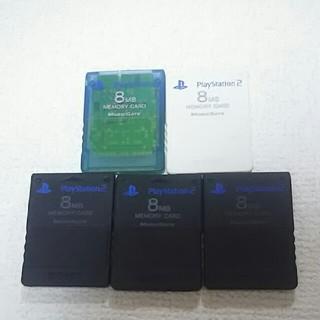 プレイステーション2(PlayStation2)のSONY ソニー プレイステーション2 メモリーカード 5枚セット(家庭用ゲーム本体)
