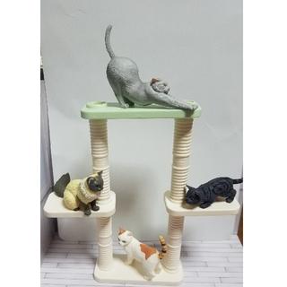 BANDAI - バンダイ 「ミニチュアキャットタワー&猫ちゃんセット」キャットタワーのみ可