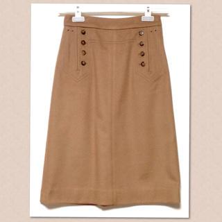 マークバイマークジェイコブス(MARC BY MARC JACOBS)のMARC BY MARC JACOBS 凝った作りのウールカシミヤのスカート (ひざ丈スカート)
