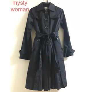 ミスティウーマン(mysty woman)のmysty woman インナー付き ブラック トレンチコート(トレンチコート)