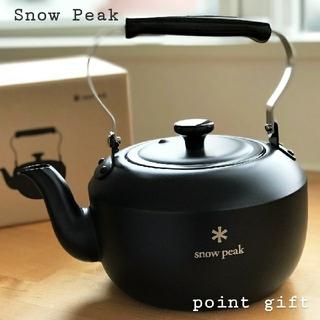 Snow Peak - ポイントギフト非売品 スノーピークラウンドケトル1.5 マットブラック 新品