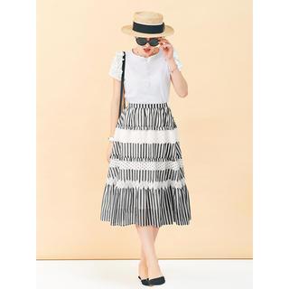Chesty - 完売 新品 チェスティ ファブリックミックススカート Black×Striped