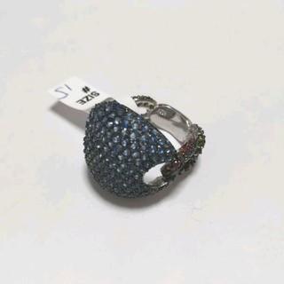 シルバー925 オラオラ系リング ブルーCZ(リング(指輪))