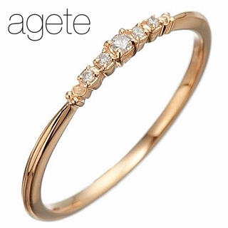 agete - 【agete】K10 ダイヤモンドリング/0.04