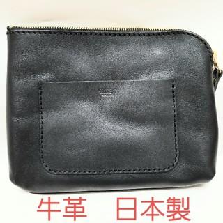 ヘルツ(HERZ)の【新品】メンズ セカンドバッグ ブラック 牛革 日本製(セカンドバッグ/クラッチバッグ)