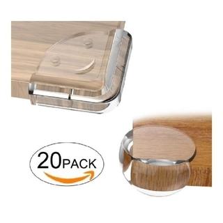 コーナークッション コーナー ガード透明 赤ちゃん両面テープ付き20個セット(コーナーガード)