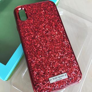 kate spade new york - ケイトスペード  iPhon xs max キラキラ 赤