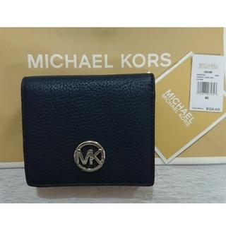 Michael Kors - 最安値‼️【2019 春夏 新作】 マイケルコース 折り財布 ネイビー