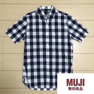 ムジルシリョウヒン(MUJI (無印良品))の☆ 無印良品 半袖 チェックシャツ サイズ XS MUJI ☆(シャツ)