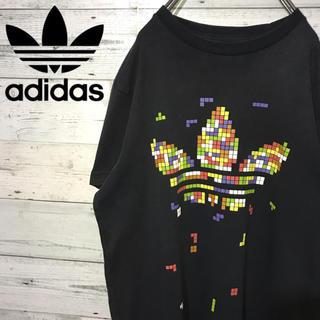 アディダス(adidas)の【レア】アディダスオリジナルス☆ビッグロゴ マルチカラー ブラック Tシャツ(Tシャツ/カットソー(半袖/袖なし))