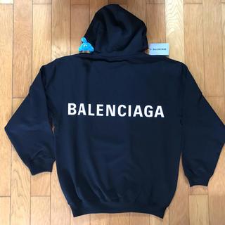 バレンシアガ(Balenciaga)の【新品 定番】Balenciaga バックロゴ フーディー L(スウェット)