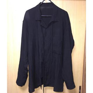 Yohji Yamamoto -  yohji yamamoto pour homme 19ss リボンシャツ