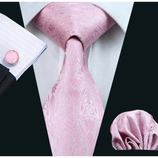 高級 ネクタイ ポケットチーフ カフス 3点セット A-7