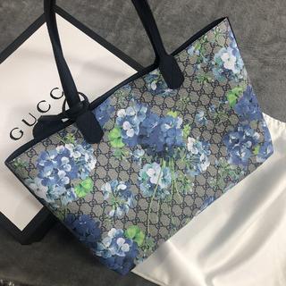 グッチ(Gucci)のGUCCIトートバッグ新品限定品〜ブルームス〜花柄ブルー(トートバッグ)