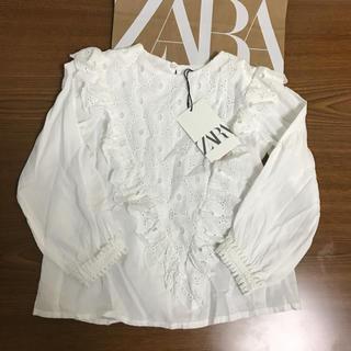 ZARA KIDS - ザラ116☺︎定番レーストップス ギャップ、ファミリア、プチバトー好きにも