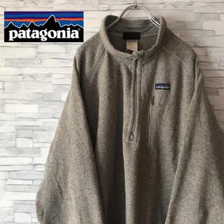 patagonia - パタゴニア スウェット トレーナー ハーフジップ 胸ポケット ワンポイント ロゴ