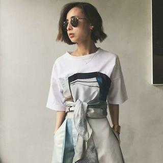 アメリヴィンテージ(Ameri VINTAGE)のAmeri VINTAGE MEDI DRAWING UNEVEN TEE(Tシャツ(半袖/袖なし))