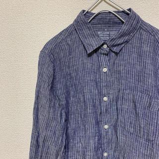 ムジルシリョウヒン(MUJI (無印良品))の無印良品 リネン100% シャツ(シャツ/ブラウス(長袖/七分))