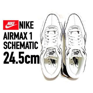 ナイキ(NIKE)の【24.5㎝ 新品】NIKE/AIRMAX 1 SCHEMATIC(スニーカー)