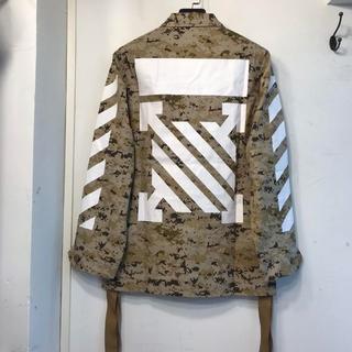 オフホワイト(OFF-WHITE)のOff-White 迷彩のコート(ミリタリージャケット)