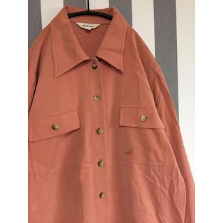 ビンテージ ポリシャツ  オーバーサイズ(シャツ/ブラウス(長袖/七分))