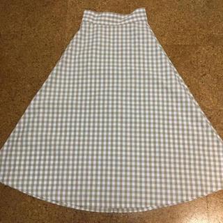 GU - ギンガムチェック ロングスカート