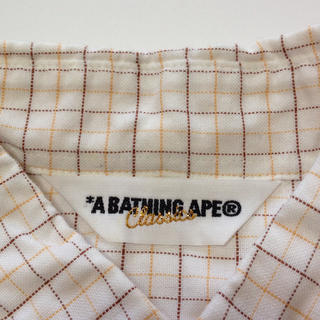 アベイシングエイプ(A BATHING APE)の《美品》 エイプ 白シャツ   シュプリーム ステューシー エクストララージ(シャツ)