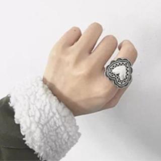 リリーブラウン(Lily Brown)のシルバー アンティーク ビンテージ ハート リング(リング(指輪))