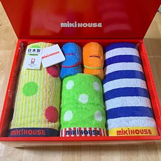ミキハウス(mikihouse)のmikihouseフェィス&ハンド&ミニタオルセット(タオル/バス用品)