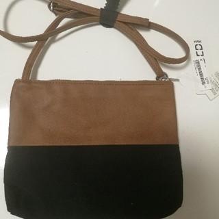 エイチアンドエム(H&M)のエイチアンドエム黒 と茶色バッグ ショルダーバッグ(ショルダーバッグ)