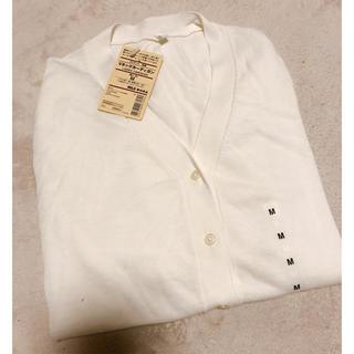 ムジルシリョウヒン(MUJI (無印良品))の無印良品 UVカット Vネックカーディガン ホワイト(ニット/セーター)