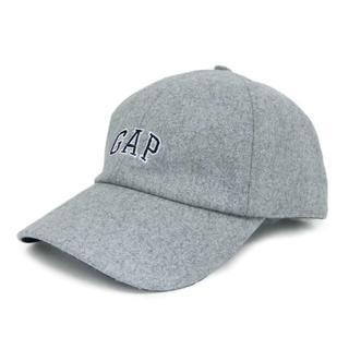 ギャップ(GAP)の送無■新品タグ付き【GAP】ロゴ刺しゅうキャップ 野球帽 男女 グレー(キャップ)